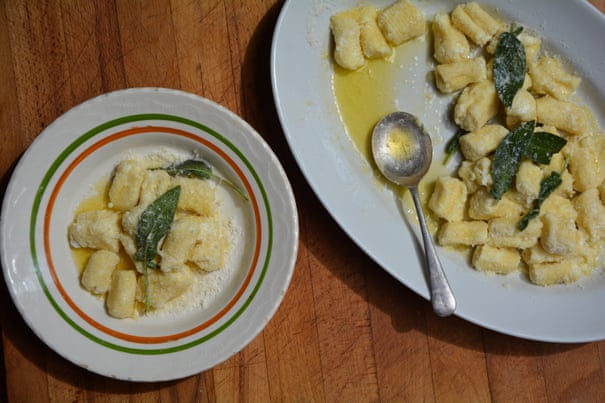 Rachel Roddy's recipe for ricotta gnocchi with sage and lemon