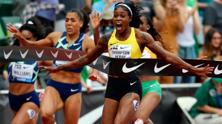 Olympic champion runs second fastest women's 100m of all time